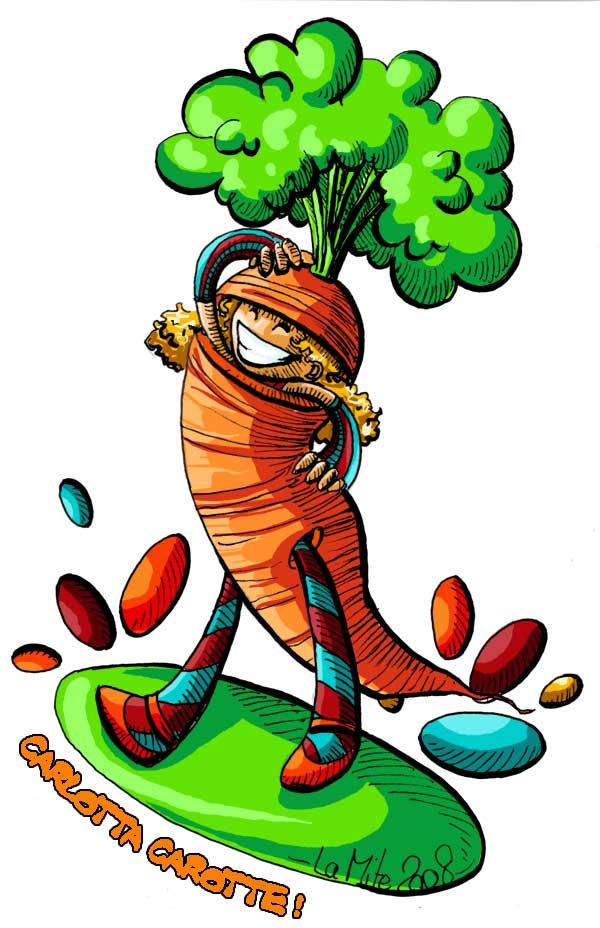 Les légumes c'est la santé! dans divers carotte