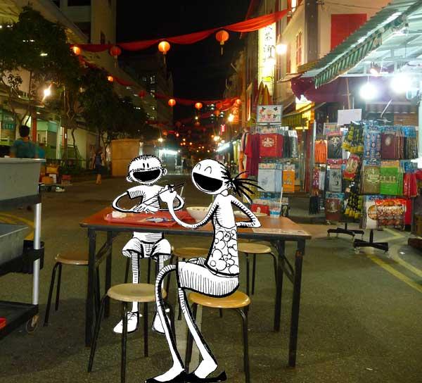 chinatown dans Singapour